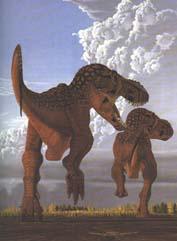 Dos T. rex corriendo